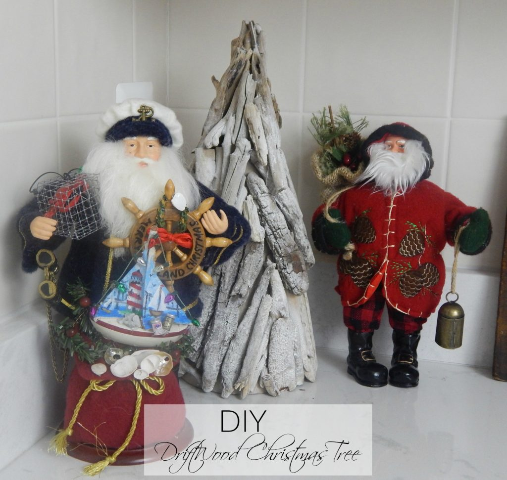 DIY Driftwood Christmas Tree. ..Quick easy step by step process.
