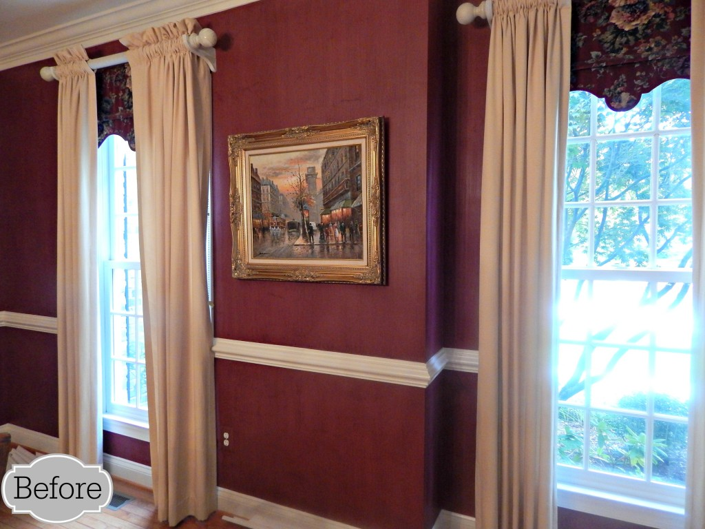 Dining Room BEFORE with dark walls