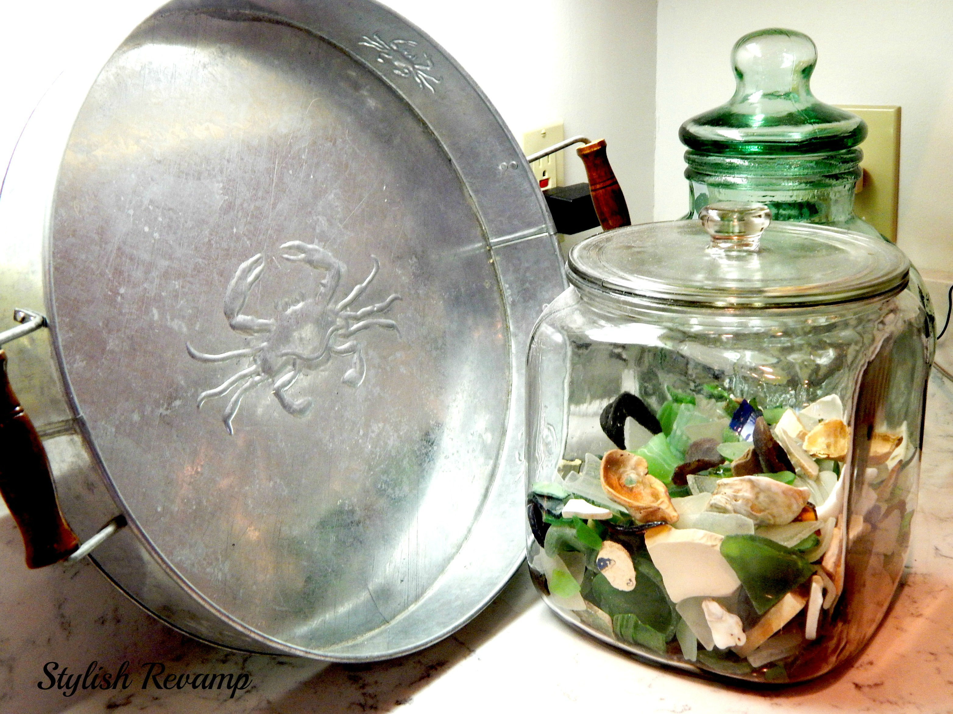 Crab Tray and seaglass
