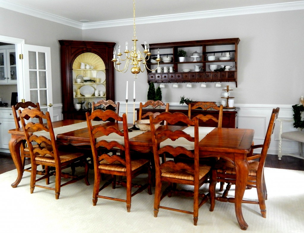 Beige on beige dining room