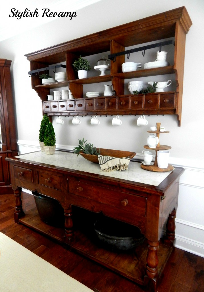 Buffet with Carrera Marble Top