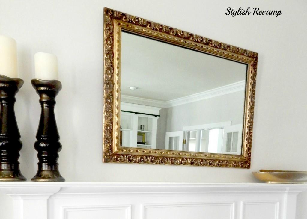 Thrift Shop Gold Frame Mirror