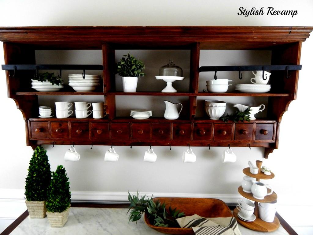 Vintage Buffet Shelf