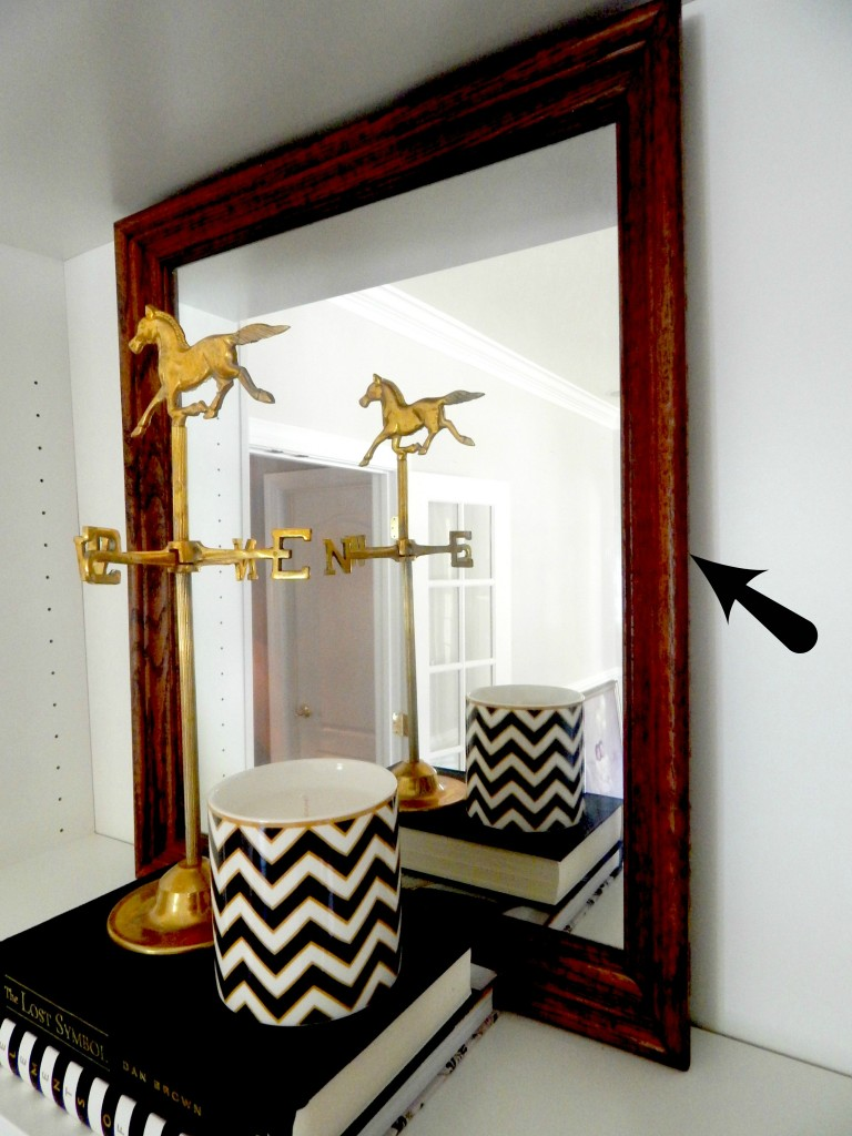 Wood Frame Mirror from New GoodWill