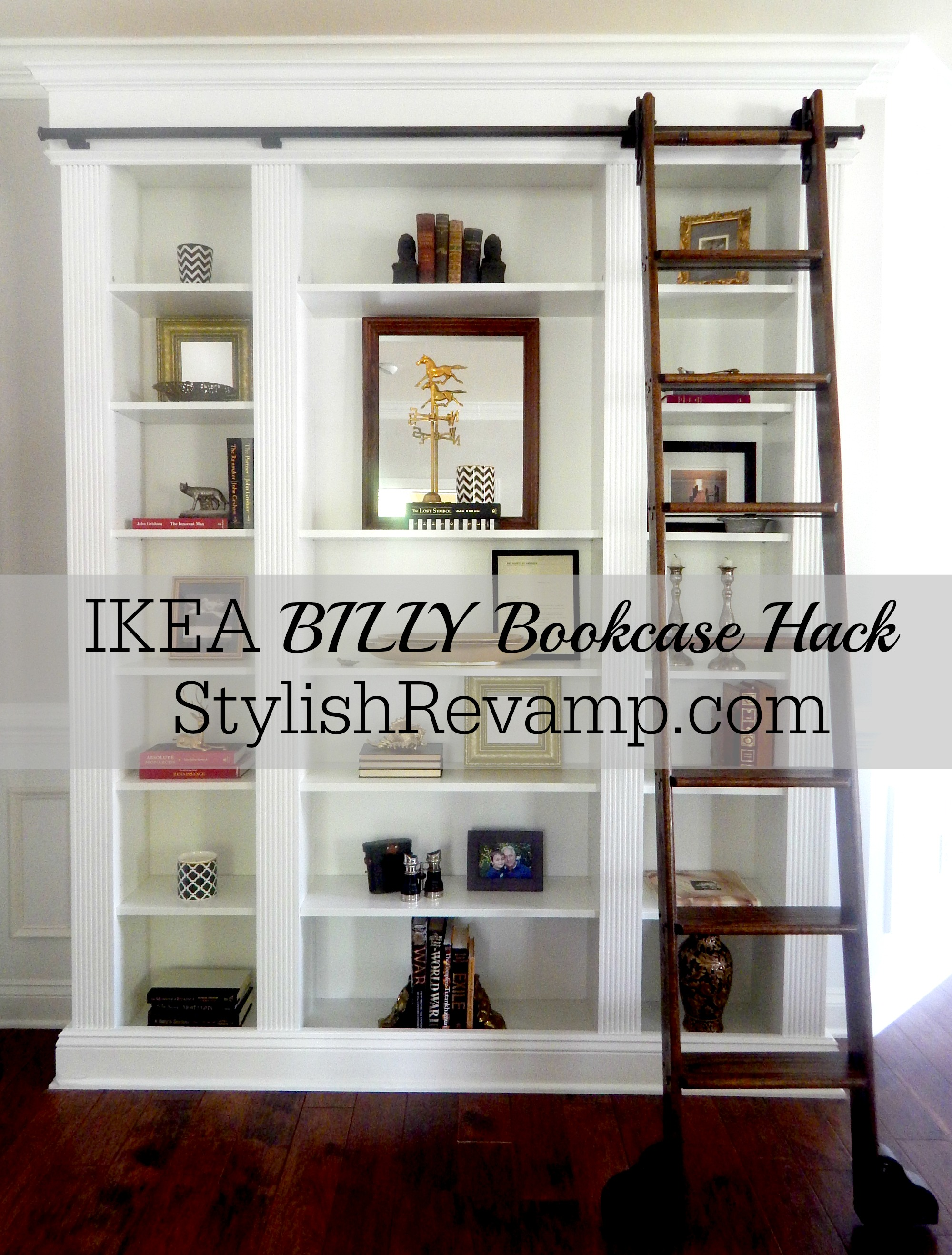 ikea billy bookcase hack stylish revamp. Black Bedroom Furniture Sets. Home Design Ideas