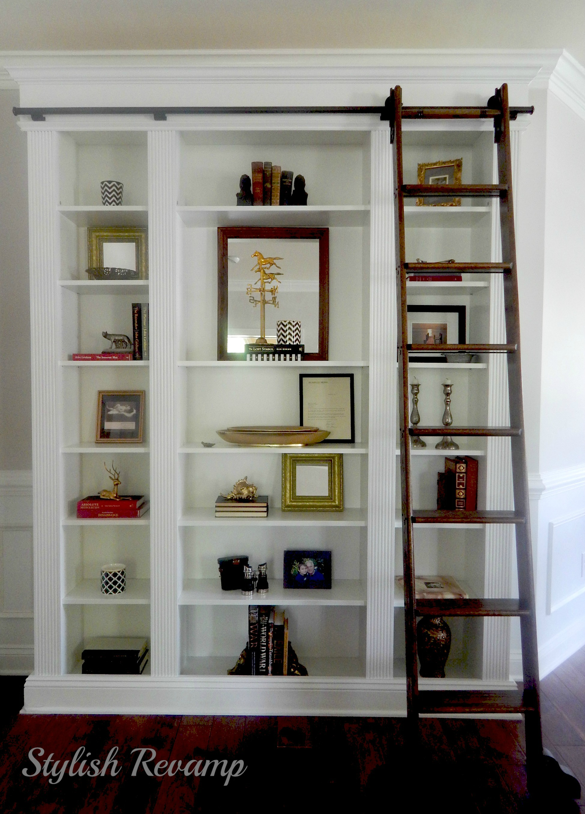Ikea billy bookcase hack stylish revamp - Porte bibliotheque ikea ...