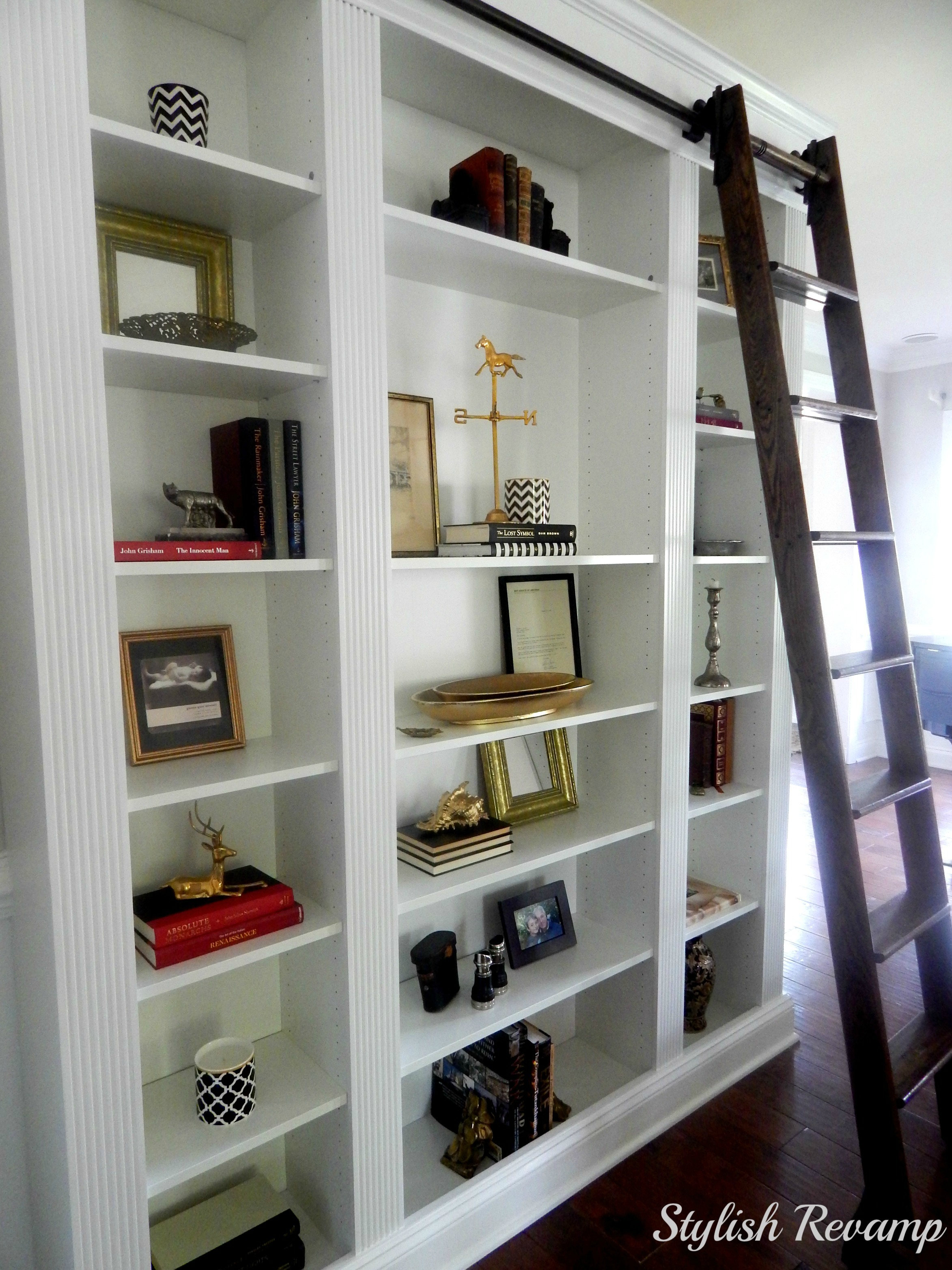 Wondrous Ikea Billy Bookcase Hack Stylish Revamp Largest Home Design Picture Inspirations Pitcheantrous