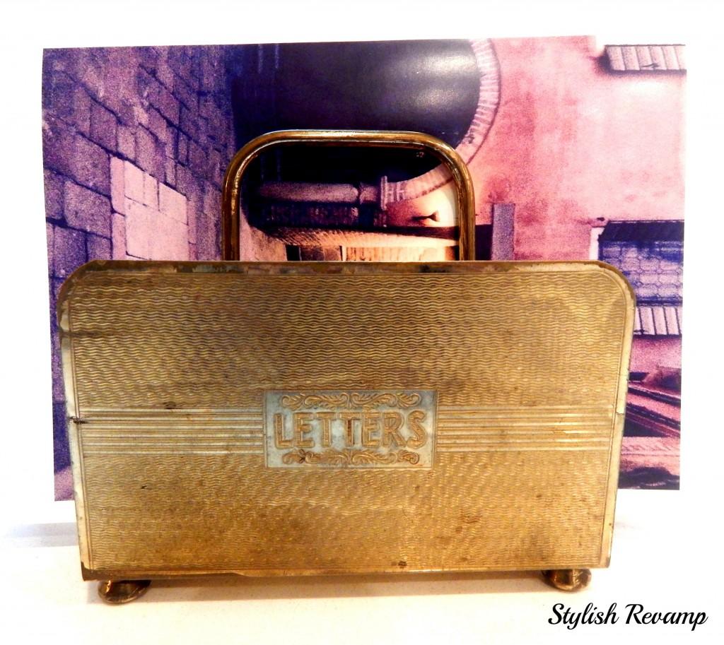 Brass Vintage Letter Holder