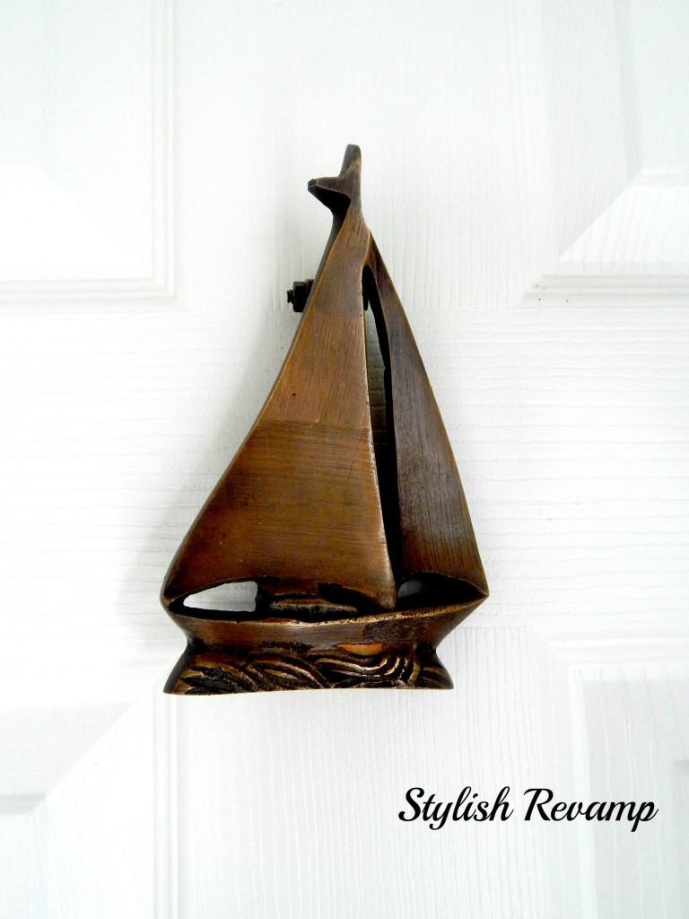 Brass SailBoat Door Knocker