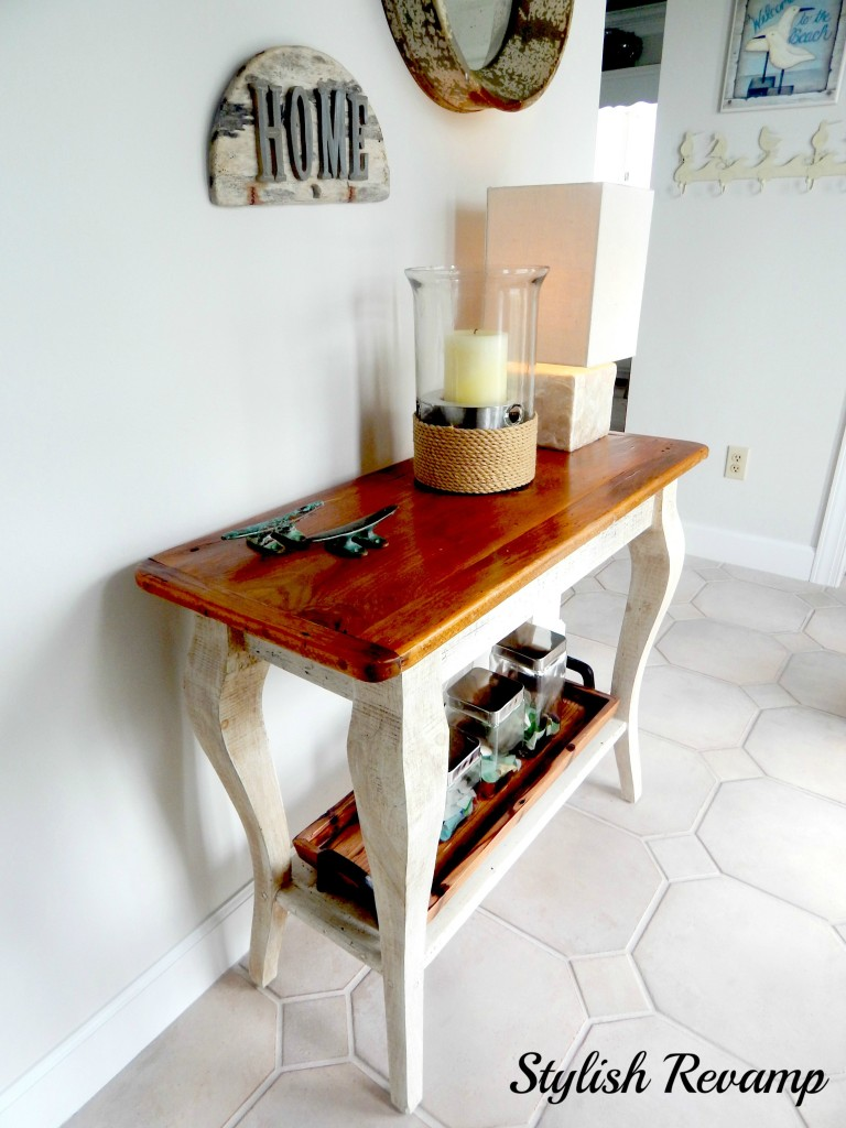 Foyer Table made with Reclaimed Barn Wood