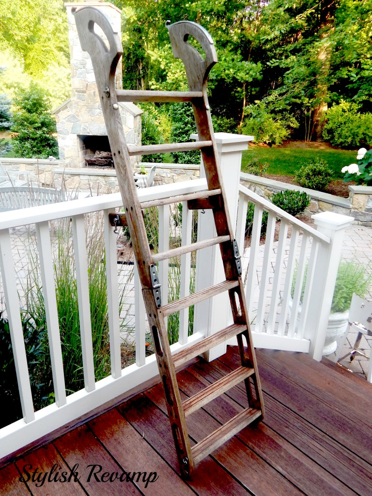 Teak Ladder Before the Revamp