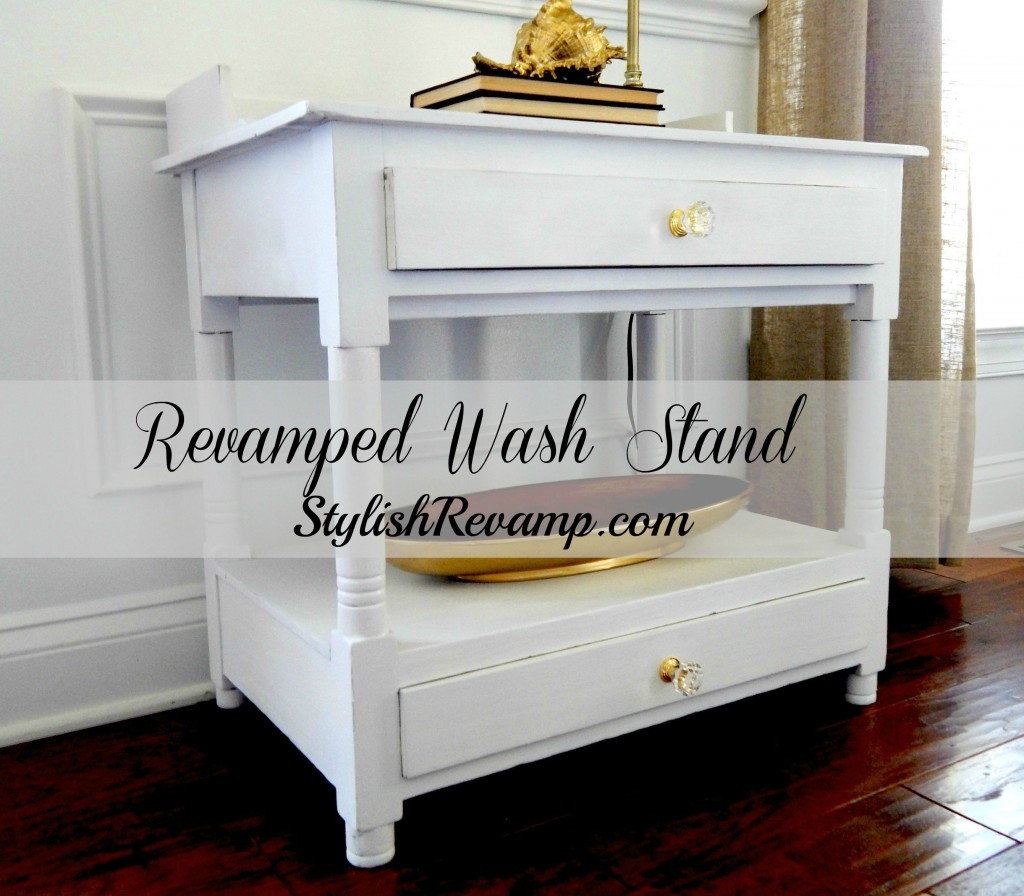 Revamped wash stand in a glossy white