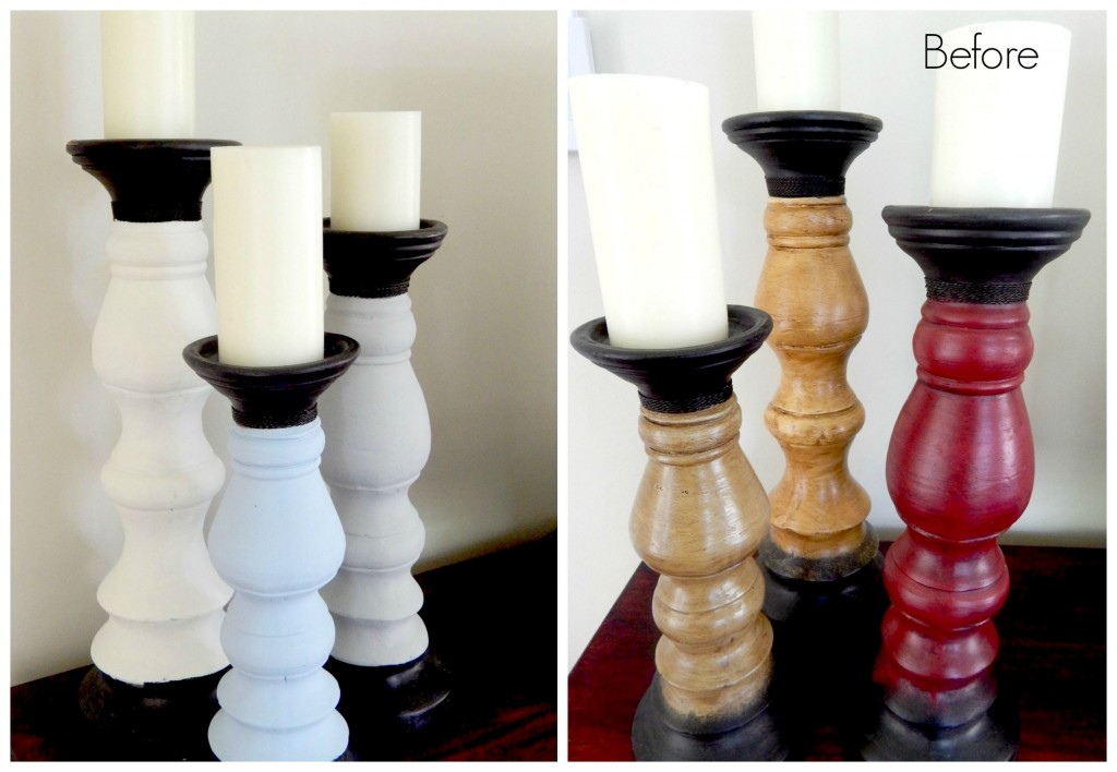 CandleHolders Painted with ChalkPaint