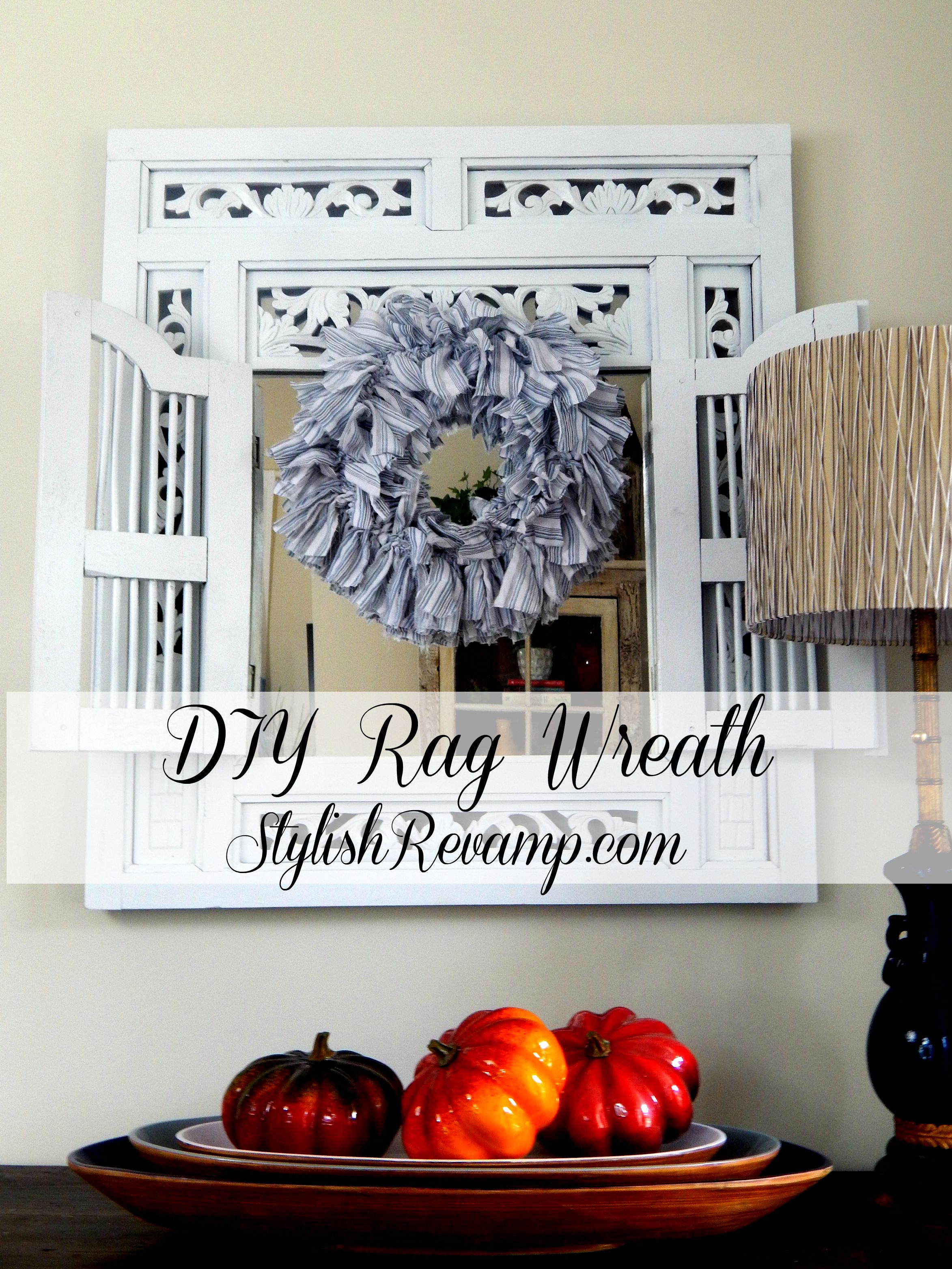 Diy Rag Wreath Stylish Revamp