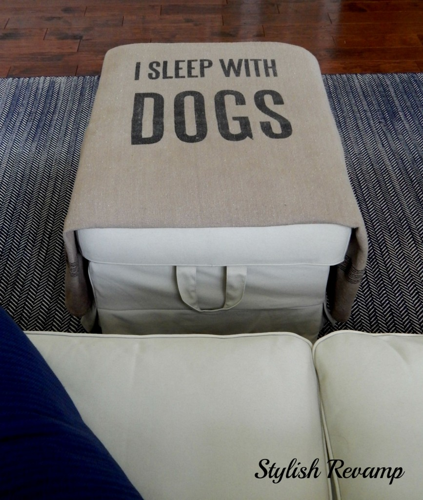 Ikea Ottoman With Dog Blanket
