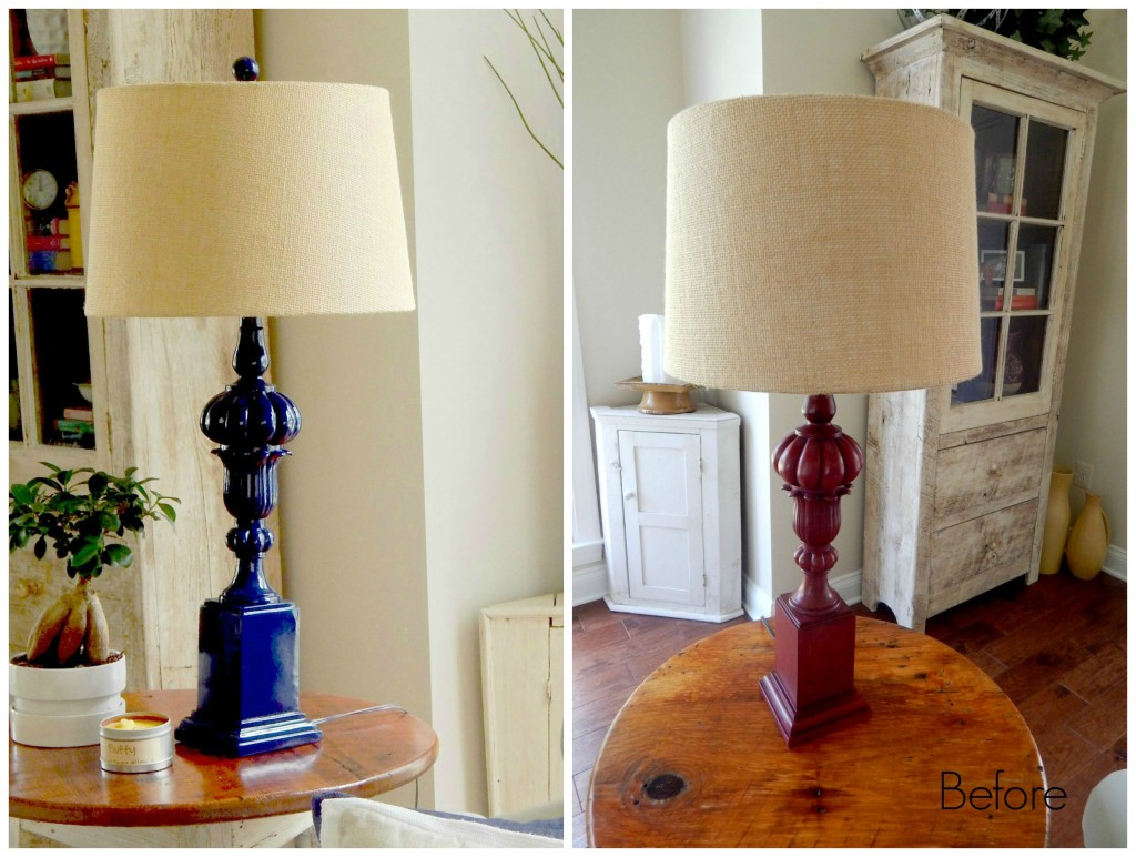 Lamp Revamp with Spray Paint