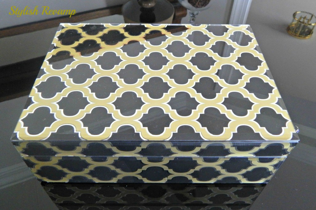 decorative black and gold box