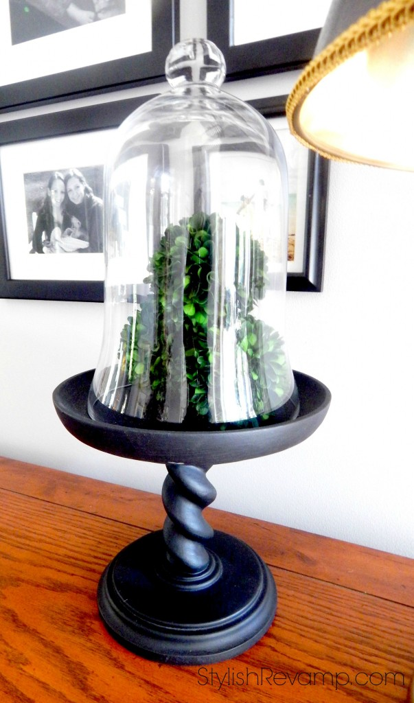 Cloche with Pedestal Base