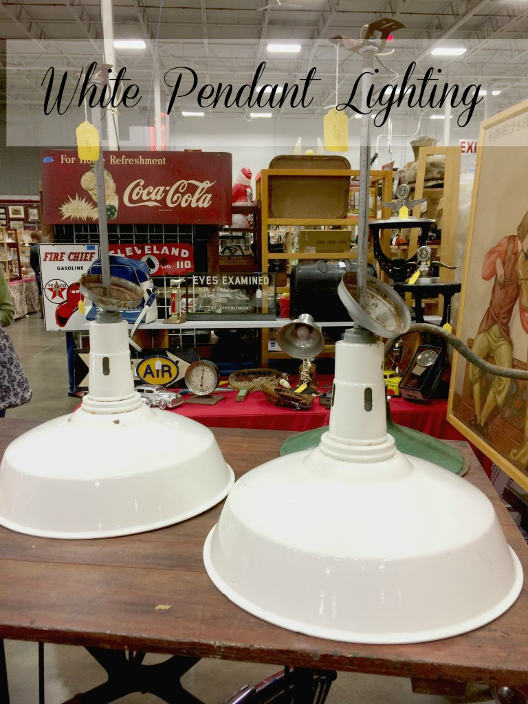 Enamel White Pendant Lighting