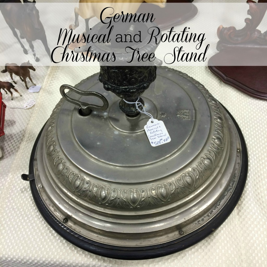 German Musical and Rotating Christmas Tree Stand