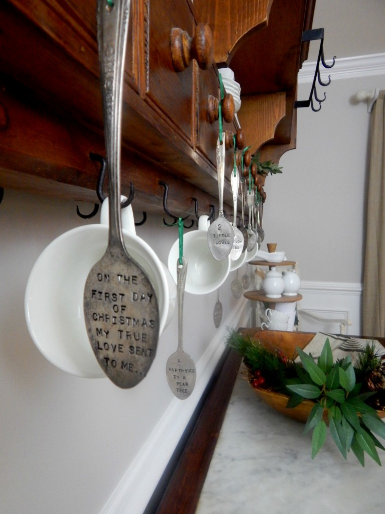 12 days of Christmas Stamped Spoons