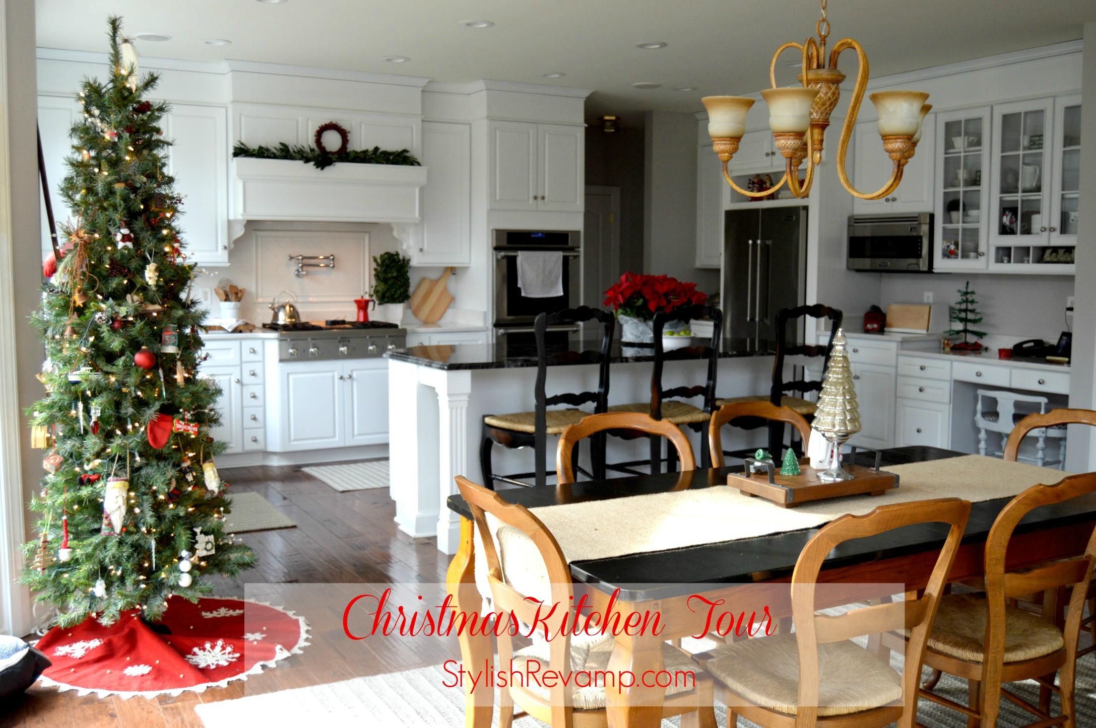 Christmas Kitchen White Kitchen Christmas Tour Stylish Revamp