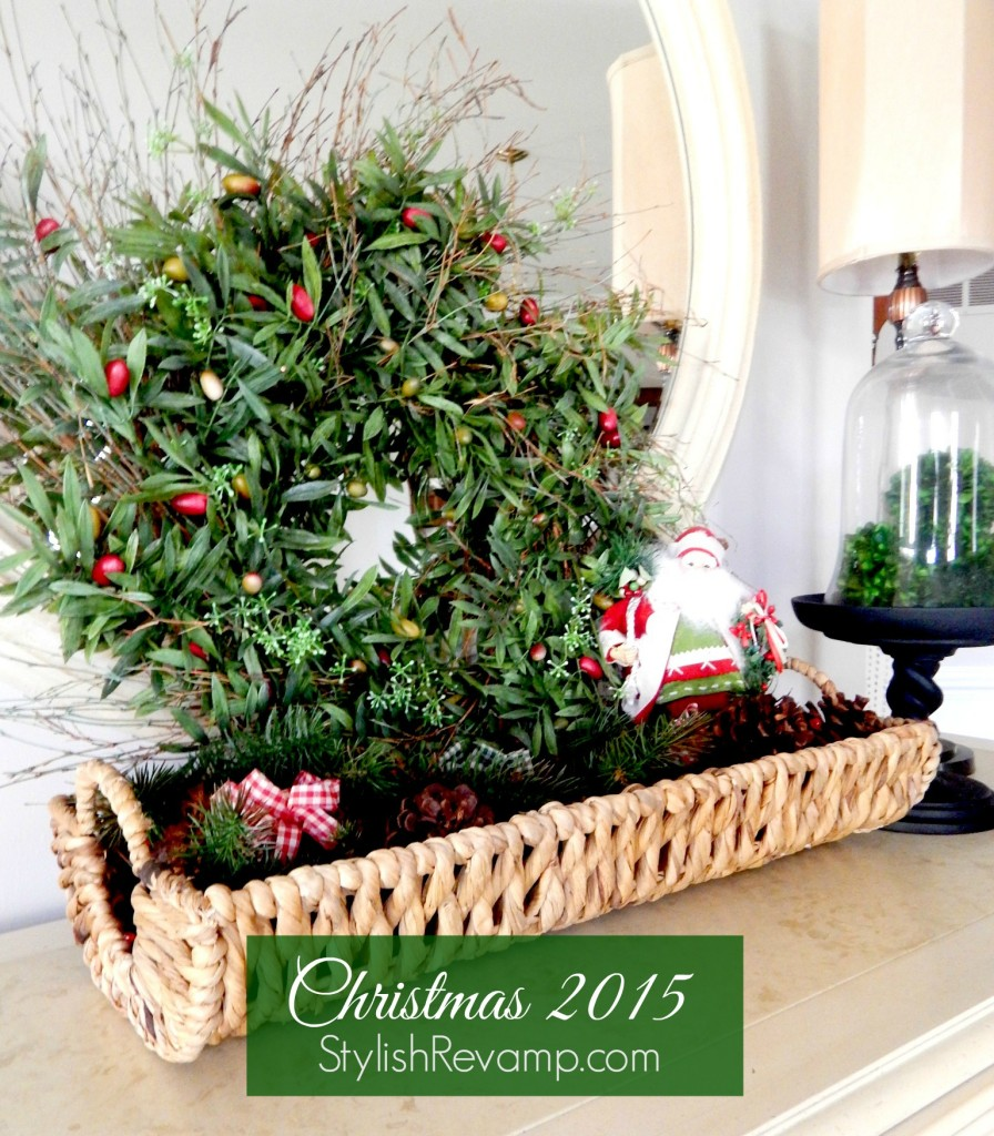 Christmas Scented Pinecones scattered in a basket