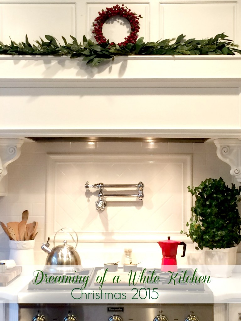 Dreaming of a White Kitchen...Christmas 2015.