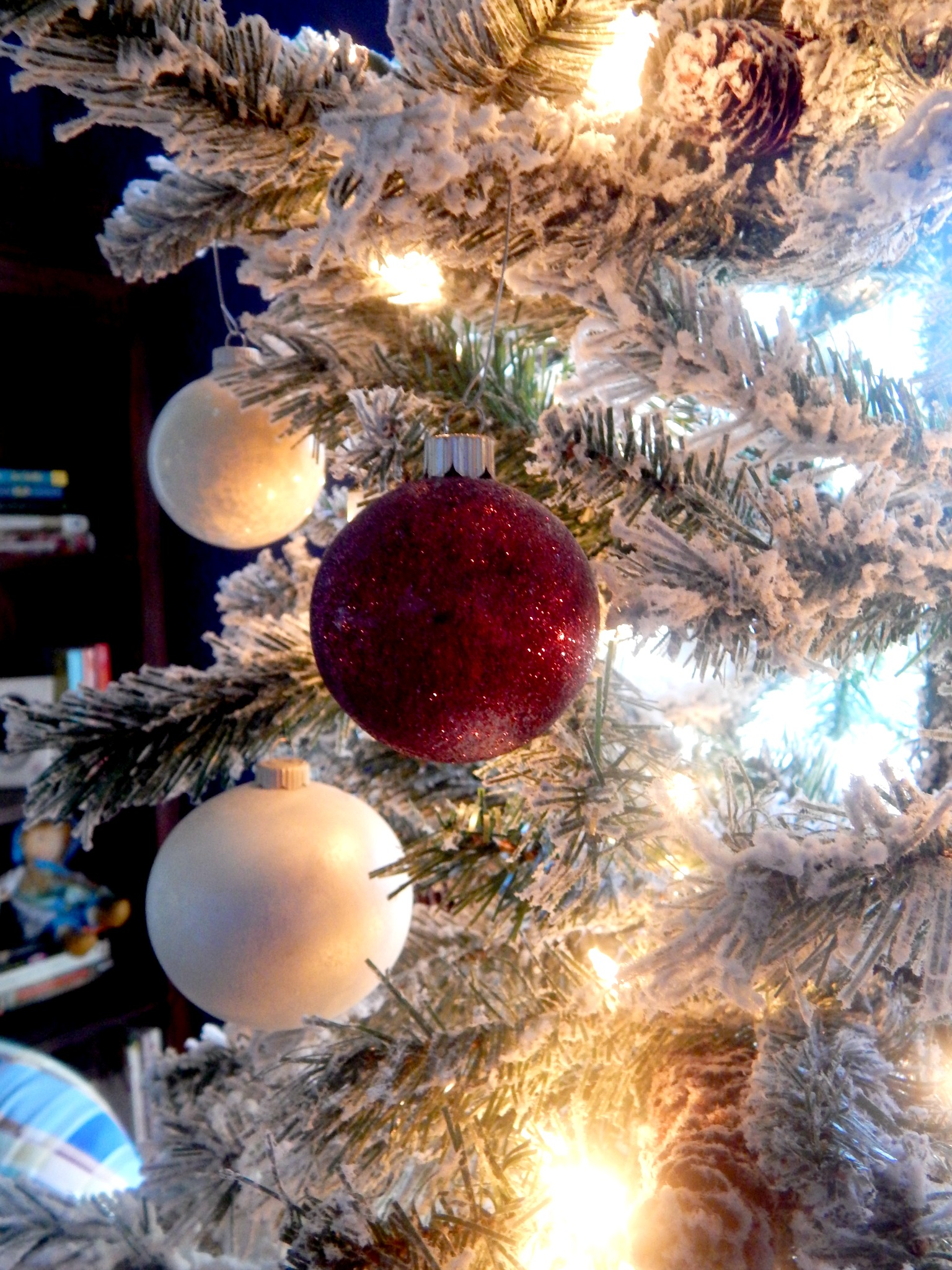 Christmas tree fake christmas trees walmart foot heavy flocked pine