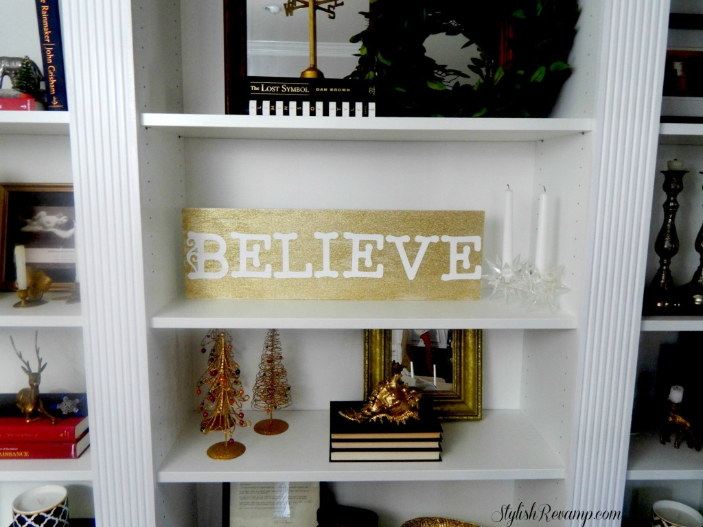DIY Gold Glitter DIY Sign