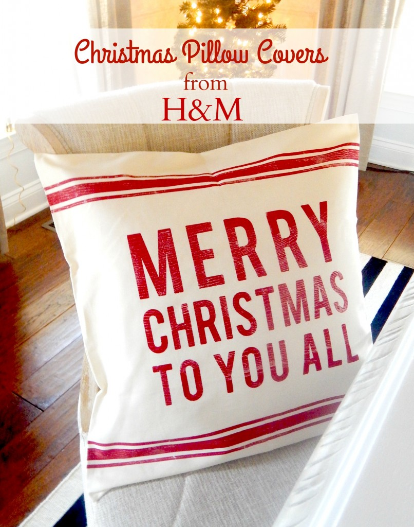 H&M Pillow Covers for Christmas