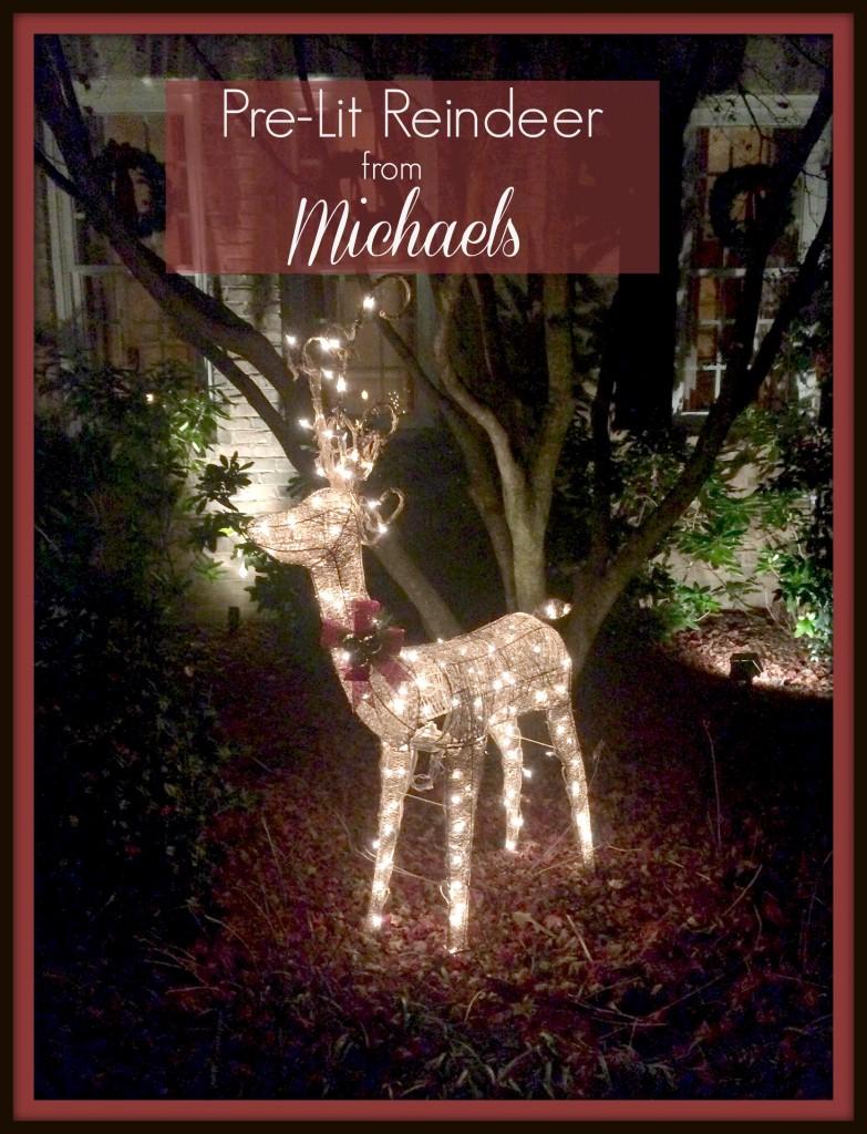 Pre-lit Reindeer from Michaels
