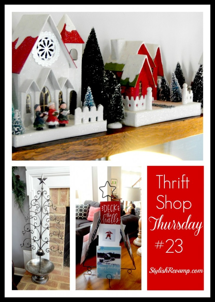 Thrift Shop Thursday #23 sharing some of our Christmas Finds
