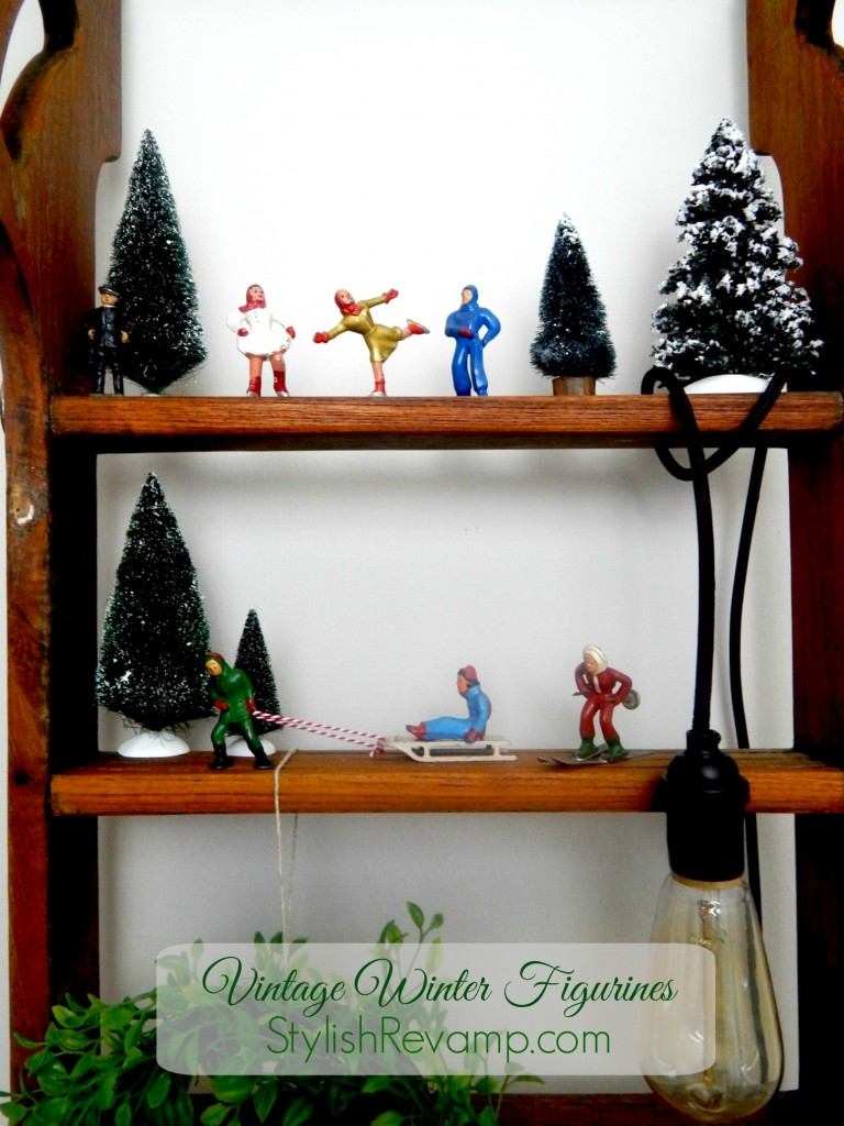 Vintage Metal Christmas Figurines