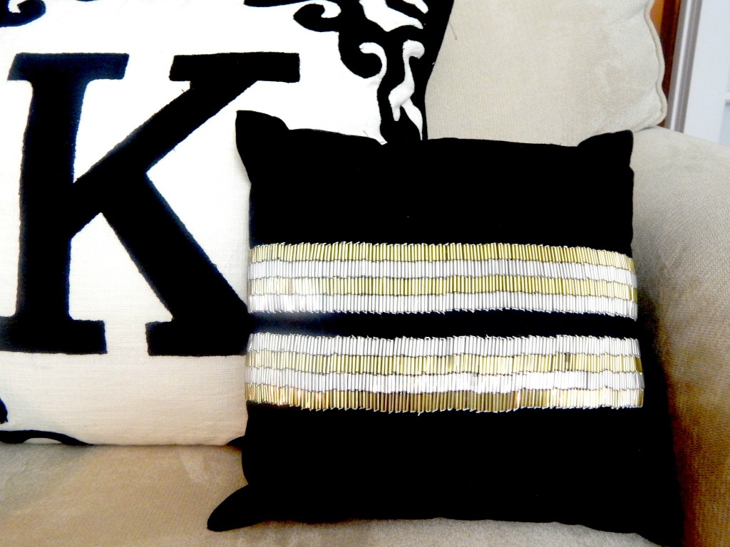 Black and Gold Beaded Pillow by Nate Berkus at Target