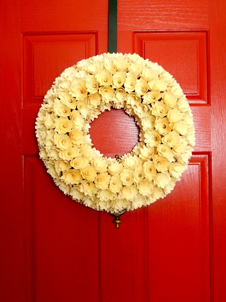Creamy white Rose wreath from HomeGoods