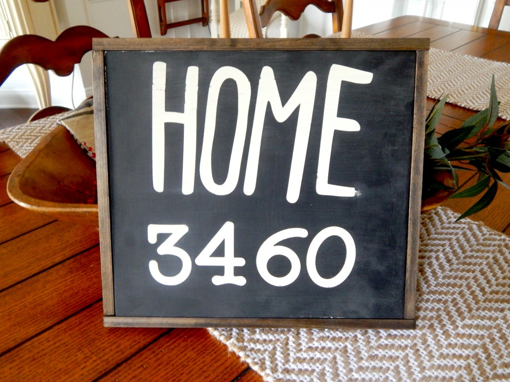 DIY Wood Home Sign