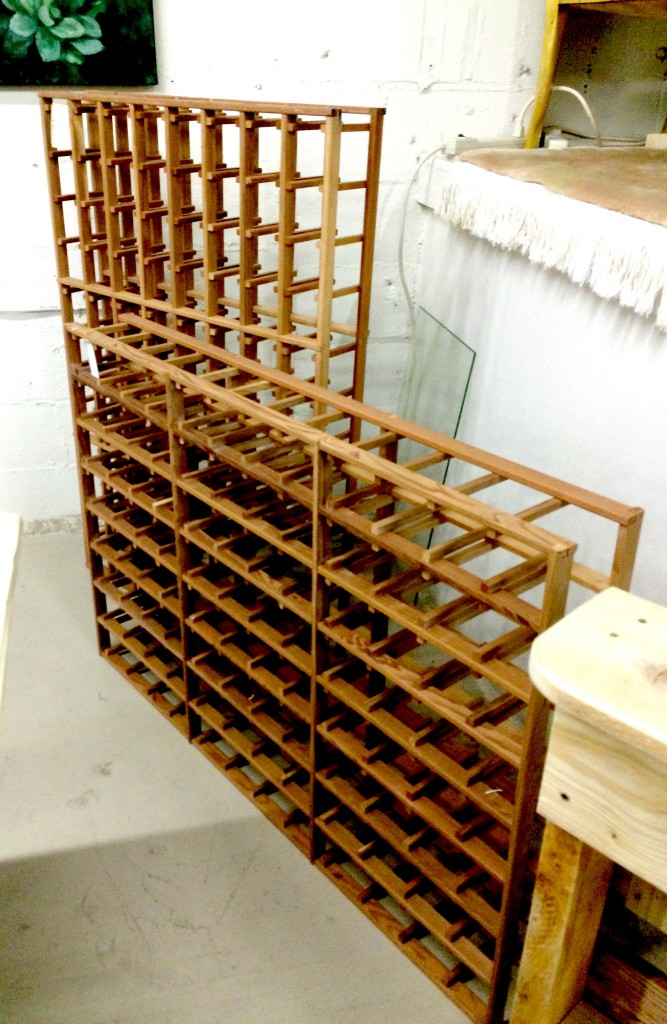wine rack storage pieces
