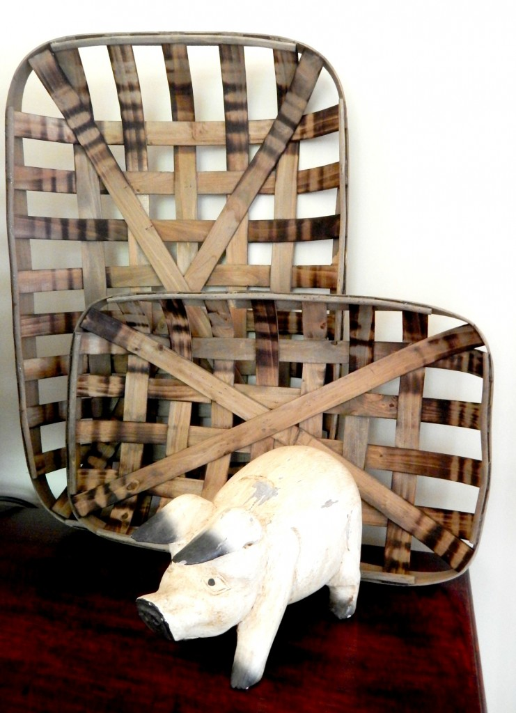 Decorating with Tobacco Baskets