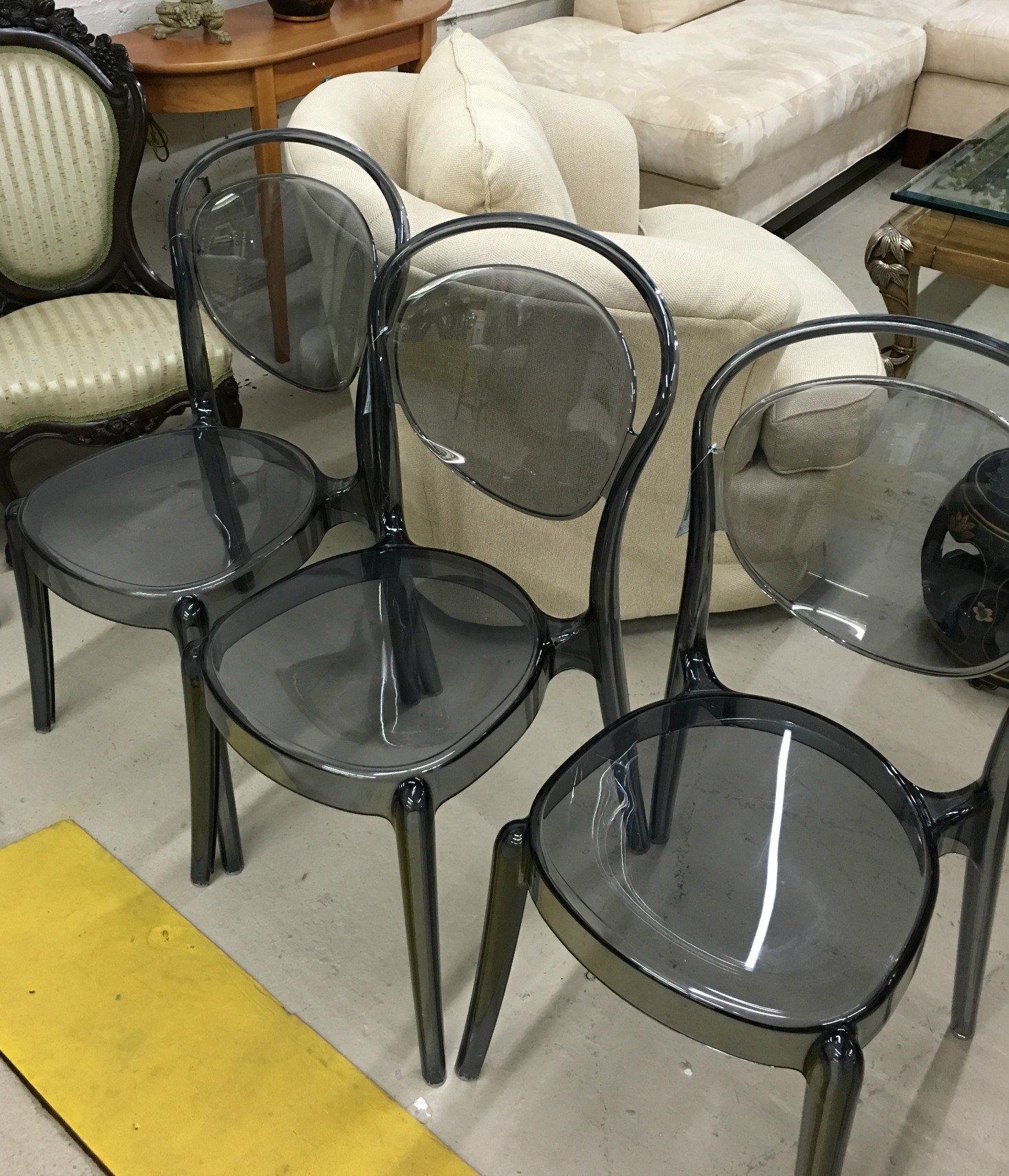 Ghost Chairs In A Smoky Grey
