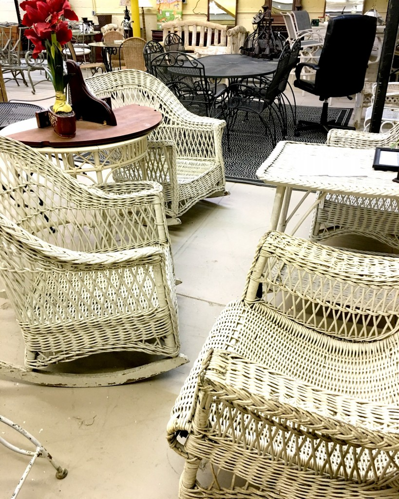 Outdoor Wicker in White