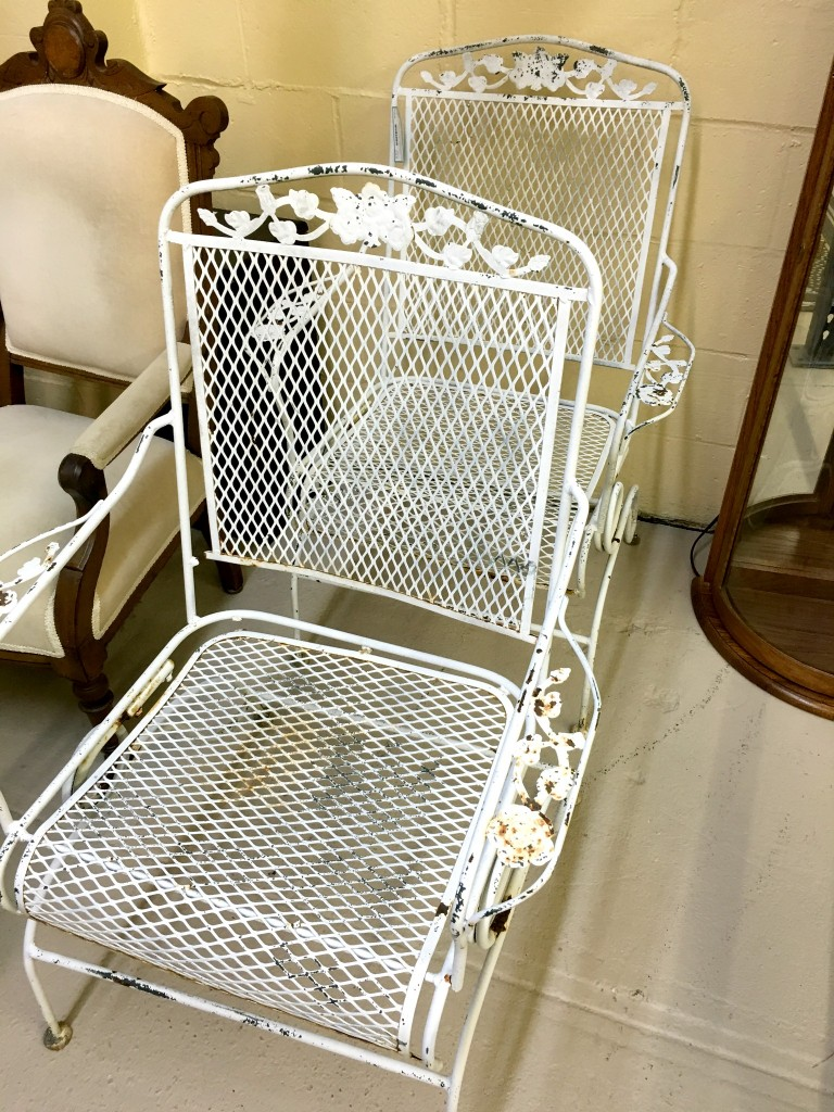 White Outdoor Metal Chairs