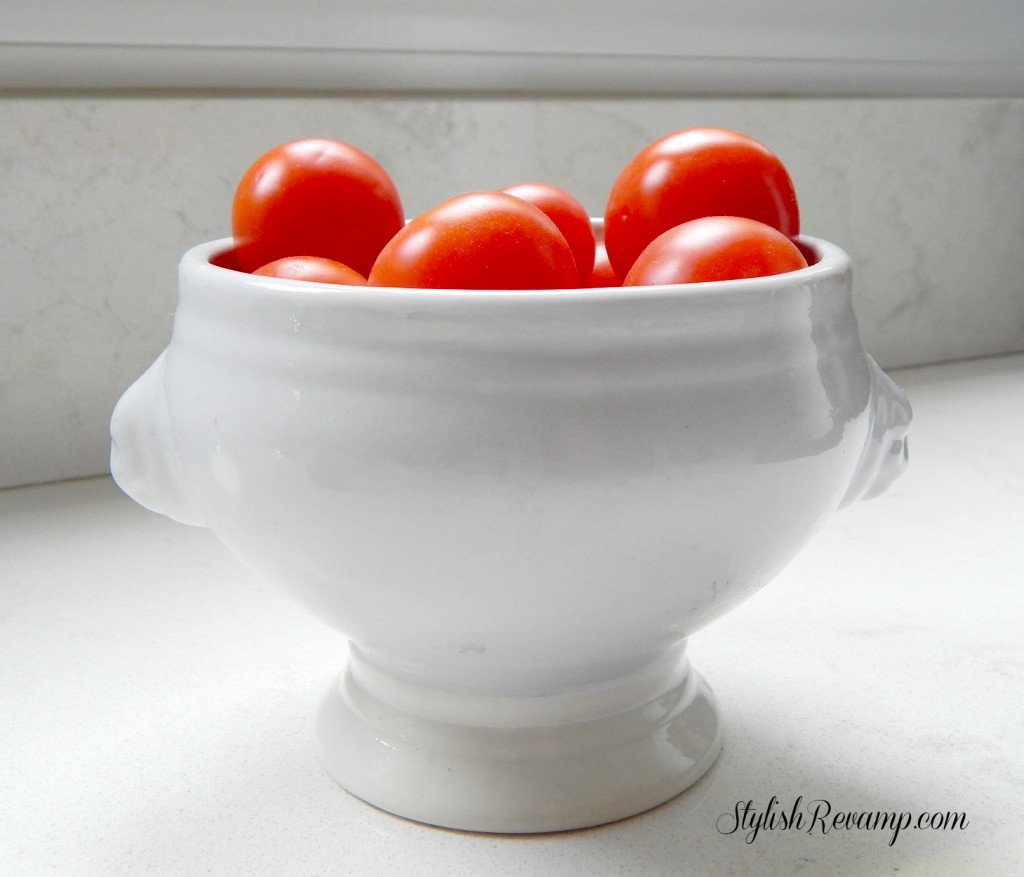 White Pedestal Bowl from GoodWill