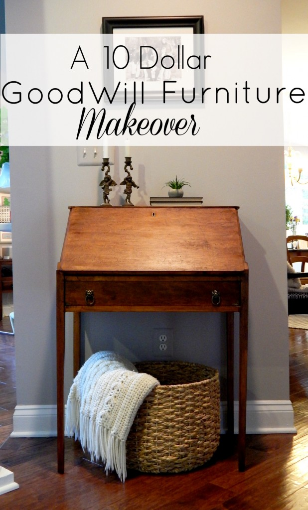 A $10 Goodwill Furniture Makeover