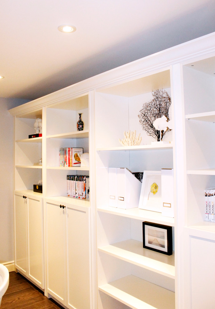Easy DIY Narrow Floating Bookshelves for behind a door