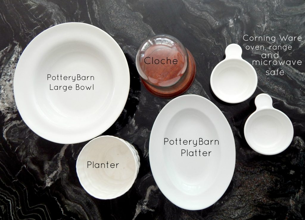 Potterybarn Serving  ware from the Thrift Shop