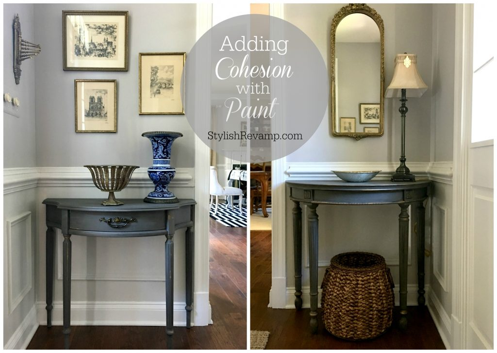 Adding cohesion with paint