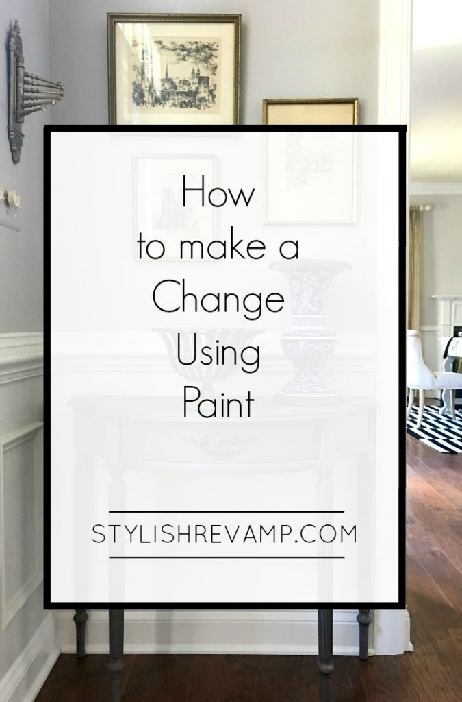 How to make a change using paint