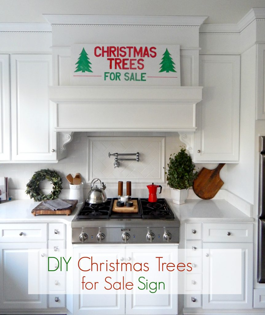 DIY Wooden Christmas Trees for Sale Sign