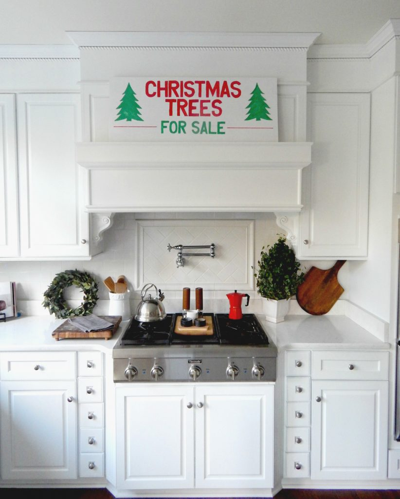 My version of the Christmas Trees for Sale sign. I love how my DIY sign turned out.